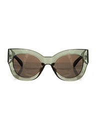 Pixie Market Eva Dark Green Sunglasses