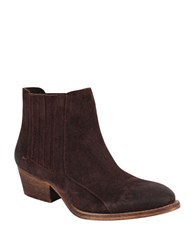 Charles By Charles David Yale Suede Mid Heeled Booties Dark Brown