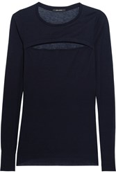 Isabel Marant Robby Cutout Cashmere Sweater Blue