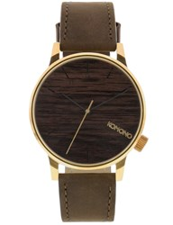 Komono Gold Wood Winston Watch