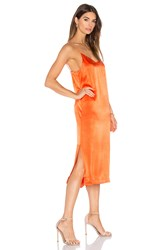 Ganni V Neck Tank Dress Orange