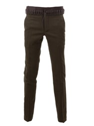 Haider Ackermann Lace Up Waist Skinny Trousers Green