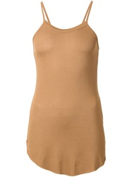 Lost And Found Rooms Stretch Spaghetti Strap Top Brown