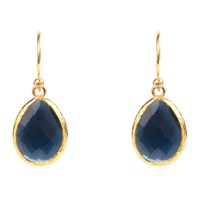 Latelita London Petite Drop Earring Sapphire Hydro Gold Blue Gold