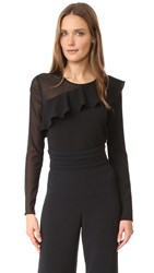 Cushnie Et Ochs Long Sleeve Top Black