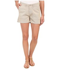 Dylan By True Grit Effortless Stretch Cotton Classic Cargo Shorts Vintage Khaki Women's Shorts