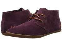 Fred Perry Roots Unlined Suede Oxblood Dark Cinammon Women's Shoes Brown