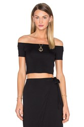 House Of Harlow X Revolve Lola Off The Shoulder Crop Black