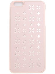 Michael Michael Kors Floral Detail Iphone 6 Plus Cover Pink And Purple