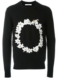 Givenchy Floral Embroidered Sweatshirt Black