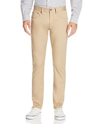 Brooks Brothers Selvedge Twill Five Pocket Slim Fit Pants Light Beige