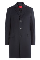 Hugo Virgin Wool Coat With Cashmere Gr. Eu 48