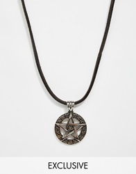 Reclaimed Vintage Star Pendant Necklace Silver