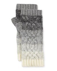 Neiman Marcus Ombre Fingerless Cashmere Gloves Grey