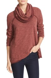 Free People Women's 'Beach Cocoon' Cowl Neck Pullover Terracotta