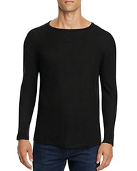 Rails Ryan Heathered Linen Long Sleeve Tee Black