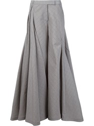 Rosie Assoulin Super Wide Flared Trousers Brown