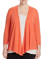 Nic And Zoe Plus Four Way Cardigan Coral Sun