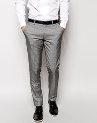 Vito Pow Check Suit Trousers In Slim Fit Black
