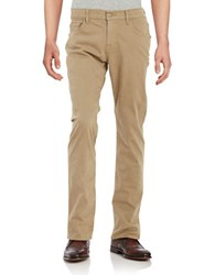 7 For All Mankind Sateen Cotton Blend Chinos Beige Khaki