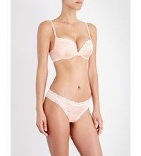 Mimi Holliday Peach Blossom Padded Push Up Bra Apricot
