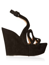 Alexa Wagner Ayers Cut Out Suede Wedges