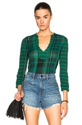 Raquel Allegra Tunic Top In Green Checkered And Plaid
