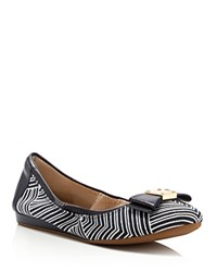 Cole Haan Tali Kaleidoscope Print Bow Ballet Flats Ink Optic White