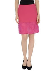 Laviniaturra Knee Length Skirts Fuchsia