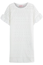 See By Chloe See By Chloe Cotton Dress With Cut Out Detail White
