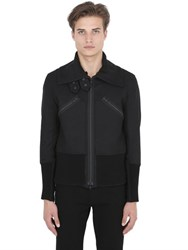 Ann Demeulemeester Techno And Cotton Canvas Jacket