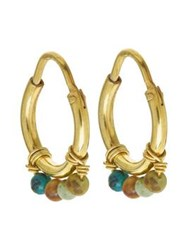 Anna Nina Turquoise Coral Ring Earrings Gold Plated One Colour