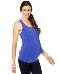 Motherhood Maternity Wide Strap Ruched Racerback Tank