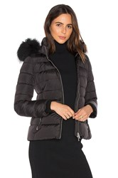 Add Down Jacket With Asiatic Raccoon Fur Collar Black