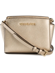 Michael Michael Kors 'Selma' Metallic Messenger Bag