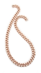 Luv Aj Classic Chain Long Necklace Rose Gold