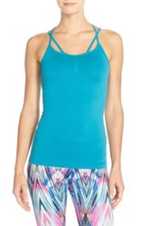 Zella 'Flexion' Seamless Tank Blue