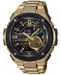 G Shock Men's Analog Digital Steel Gold Tone Ion Plated Stainless Steel Bracelet Watch 52X59mm Gst210gd 1A