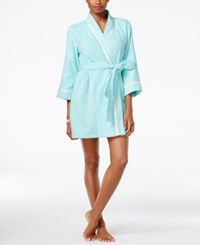 Kate Spade New York Happily Ever After Embroidered Terry Robe Bridal Aqua