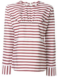 Marni Striped Blouse Red