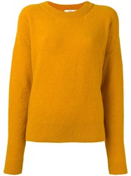 Closed Round Neck Jumper Yellow Orange