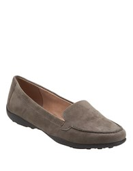 Easy Spirit Jeyden Animal Spot Suede Loafers Grey
