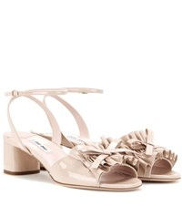 Miu Miu Patent Leather Sandals Pink