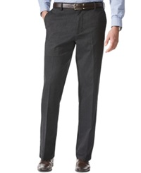 Dockers D4 Relaxed Fit Comfort Khaki Flat Front Pants Charcoal
