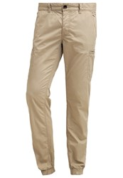 Edc By Esprit Cargo Trousers Beige