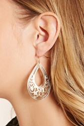 Forever 21 Ornate Cutout Drop Earrings