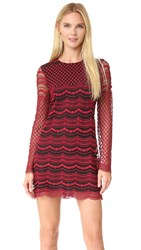 Philosophy Di Lorenzo Serafini Long Sleeve Dress Red Black