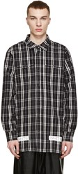 Off White Black And White Flannel Check Shirt