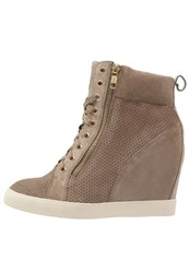 Pier One Hightop Trainers Taupe