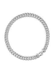 David Yurman Cable Buckle Necklace With Diamonds In Silver